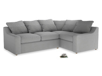 Large Right Hand Cloud Corner Sofa in Pewter Clever Softie