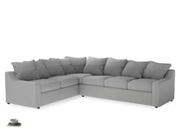 Xl Left Hand Cloud Corner Sofa in Pewter Clever Softie