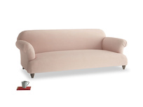 Large Soufflé Sofa in Pink clay Clever Softie