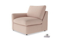 Chatnap Storage Single Seat in Pink clay Clever Softie with a left arm