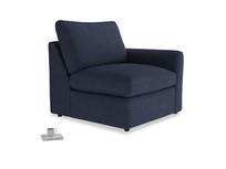 Chatnap Storage Single Seat in Seriously Blue Clever Softie with a right arm