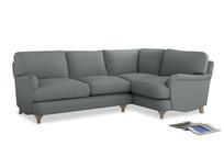Large Right Hand Jonesy Corner Sofa in Armadillo Clever Softie