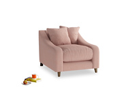 Oscar Armchair in Tuscan Pink Clever Softie