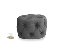 Gumdrop in Strong grey clever woolly fabric
