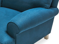 Slowcoach corner sofa arm detail