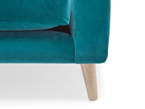 Schnaps tub style sofa front leg detail
