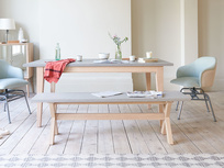 Conker concrete kitchen table