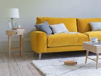 Strudel low arm contemporary sofa