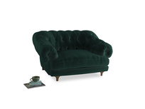Bagsie Love Seat in Dark green Clever Velvet