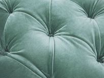 Gumdrop button footstool detail