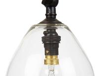 Raindrop glass wall light detail
