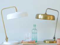 Biblio brass table lamp range