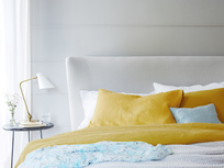 Tuscan Yellow bed linen