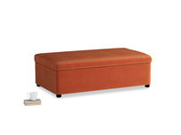Double Bed in a Bun in Old Orange Clever Deep Velvet