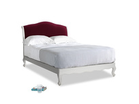 Double Coco Bed in Scuffed Grey in Merlot Plush Velvet