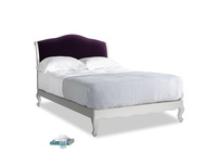 Double Coco Bed in Scuffed Grey in Deep Purple Clever Deep Velvet