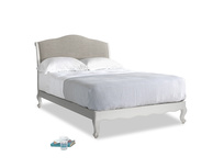 Double Coco Bed in Scuffed Grey in Grey Daybreak Laundered Linen