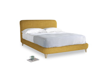 Kingsize Cookie Bed in Mellow Yellow Clever Laundered Linen