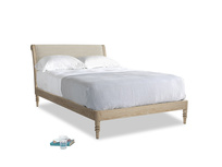 Double Darcy Bed in Shell Laundered Linen