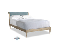Double Darcy Bed in Soft Blue Laundered Linen