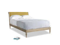 Double Darcy Bed in Easy Yellow Clever Woolly Fabric