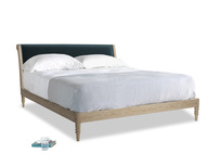 Superking Darcy Bed in Bluey Grey Clever Deep Velvet