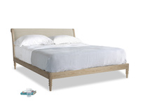 Superking Darcy Bed in Shell Laundered Linen