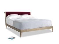 Superking Darcy Bed in Merlot Plush Velvet