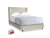 Double Hugger Bed in Shell Clever Laundered Linen