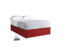 Double Tight Space Storage Bed in Rusted Ruby Vintage Velvet