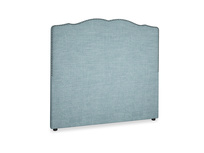 Double Marie Headboard in Soft Blue Clever Laundered Linen