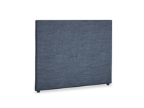 Double Piper Headboard in Selvedge Blue Clever Laundered Linen
