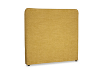 Double Ruffle Headboard in Mellow Yellow Clever Laundered Linen