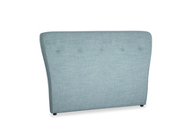Double Smoke Headboard in Soft Blue Laundered Linen