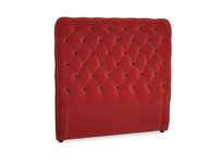 Double Tall Billow Headboard in Rusted Ruby Vintage Velvet
