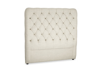 Double Tall Billow Headboard in Shell Clever Laundered Linen