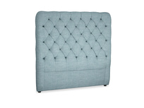 Double Tall Billow Headboard in Soft Blue Clever Laundered Linen
