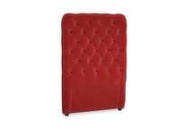 Single Tall Billow Headboard in Rusted Ruby Vintage Velvet