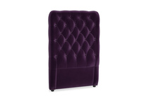 Single Tall Billow Headboard in Deep Purple Clever Deep Velvet