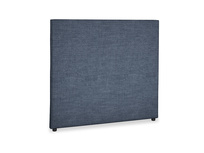 Double Tall Piper Headboard in Selvedge Blue Laundered Linen