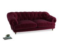 Large Bagsie Sofa in Merlot Plush Velvet
