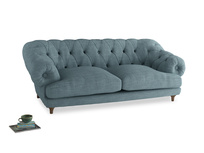 Large Bagsie Sofa in Soft Blue Clever Laundered Linen