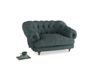 Bagsie Love Seat in Anchor Grey Clever Laundered Linen
