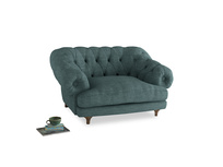 Bagsie Love Seat in Blue Turtle Clever Laundered Linen