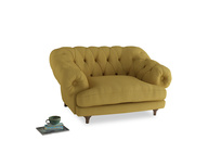 Bagsie Love Seat in Easy Yellow Clever Woolly Fabric