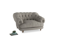 Bagsie Love Seat in Grey Daybreak Clever Laundered Linen