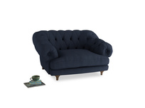 Bagsie Love Seat in Night Owl Blue Clever Woolly Fabric