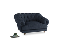 Bagsie Love Seat in Selvedge Blue Clever Laundered Linen