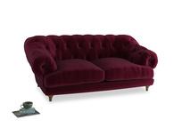 Medium Bagsie Sofa in Merlot Plush Velvet