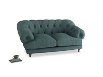Small Bagsie Sofa in Blue Turtle Clever Laundered Linen